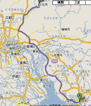 广州从化地图全图; 从深圳到从化怎么走啊?;