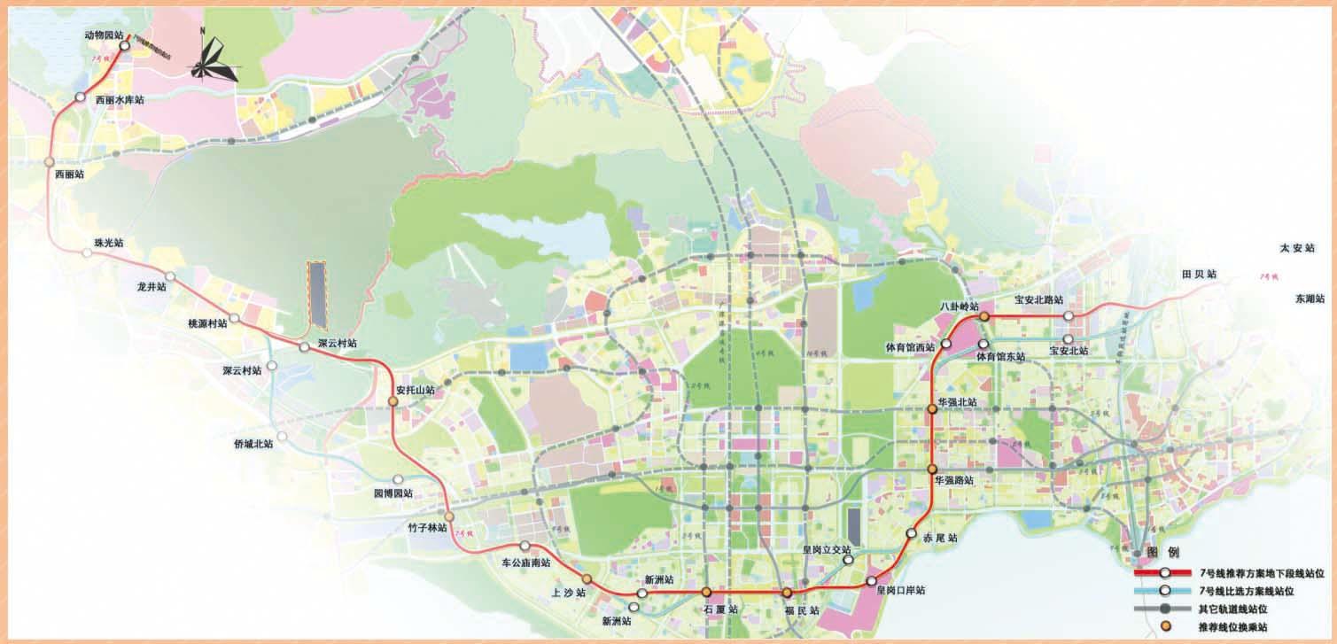 深圳市宝安最新规划图