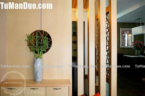 木工客廳柱子隔斷花架樣式