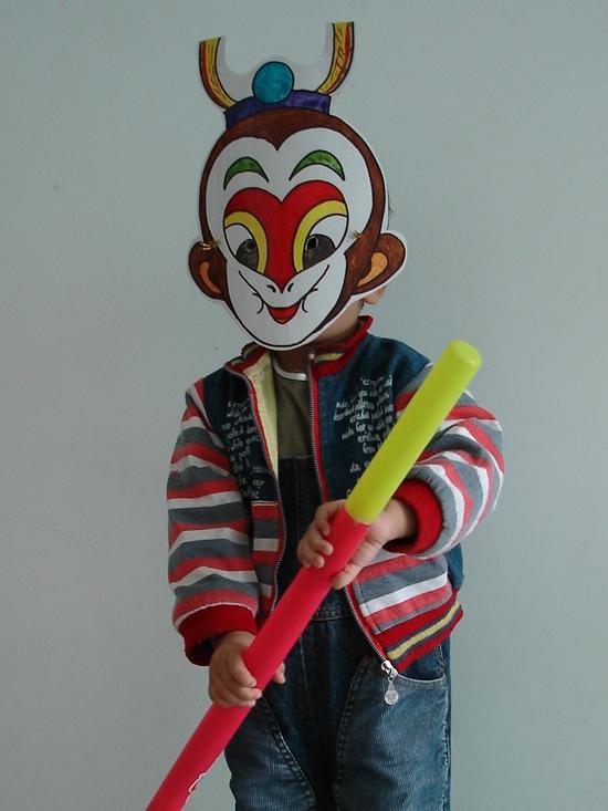 手绘儿童面具