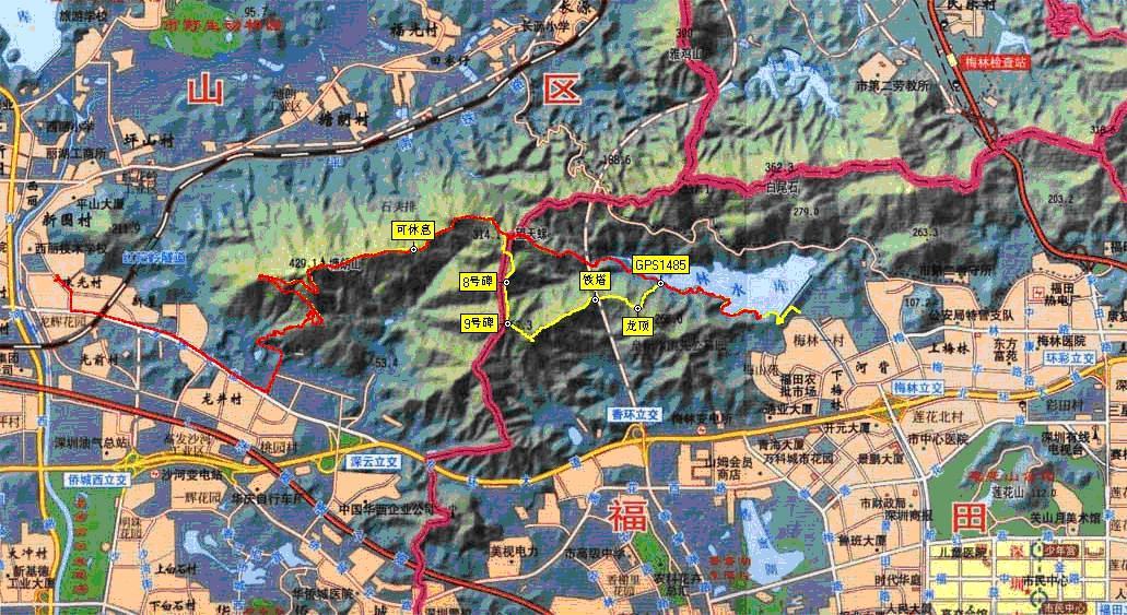 塘朗山地图