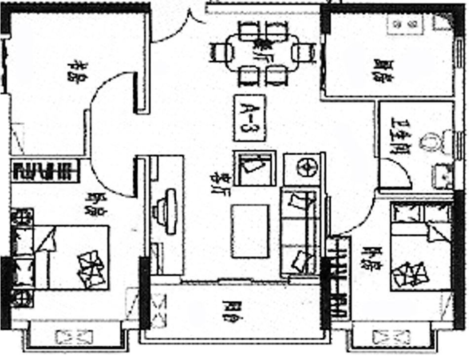 84平方米房子设计图
