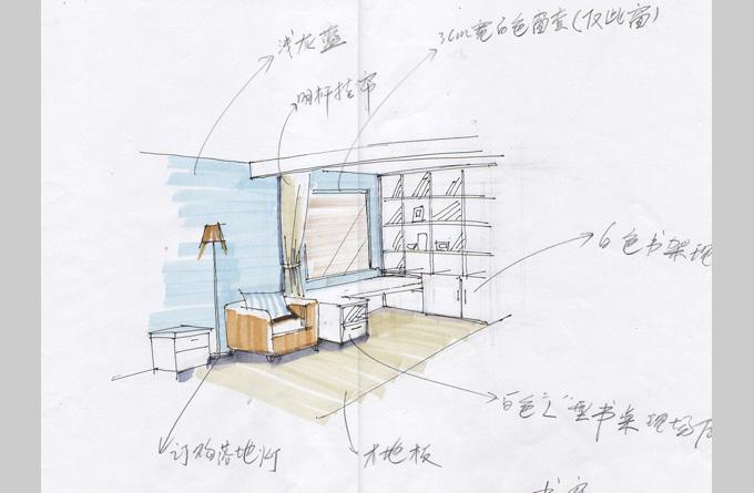 户型 户型图 简笔画 平面图 手绘 线稿 680_445
