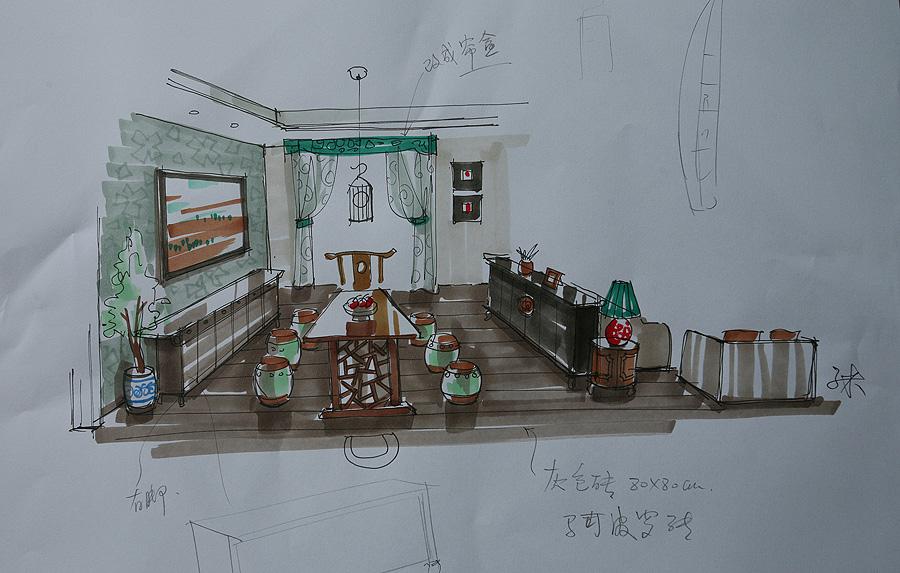 > 可爱的卡通手绘设计-----参观3米老师工地
