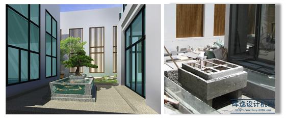 日式风情——别墅建筑庭院改建与内部园林设计方案