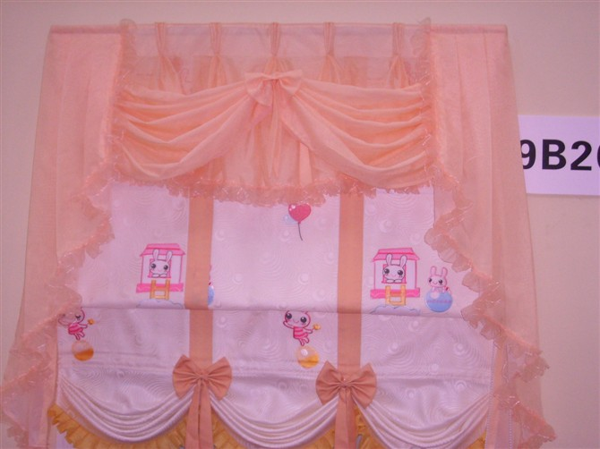 粉色窗帘欧式幔