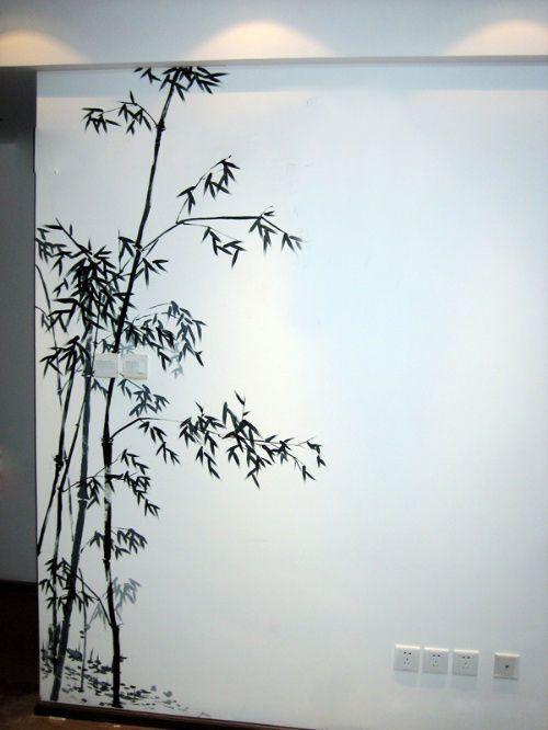 手绘墙画----营造自己的私家风景.^