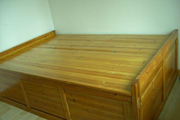 南山真皮3座沙发,手工实木床