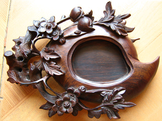 越南红木雕 茶盘