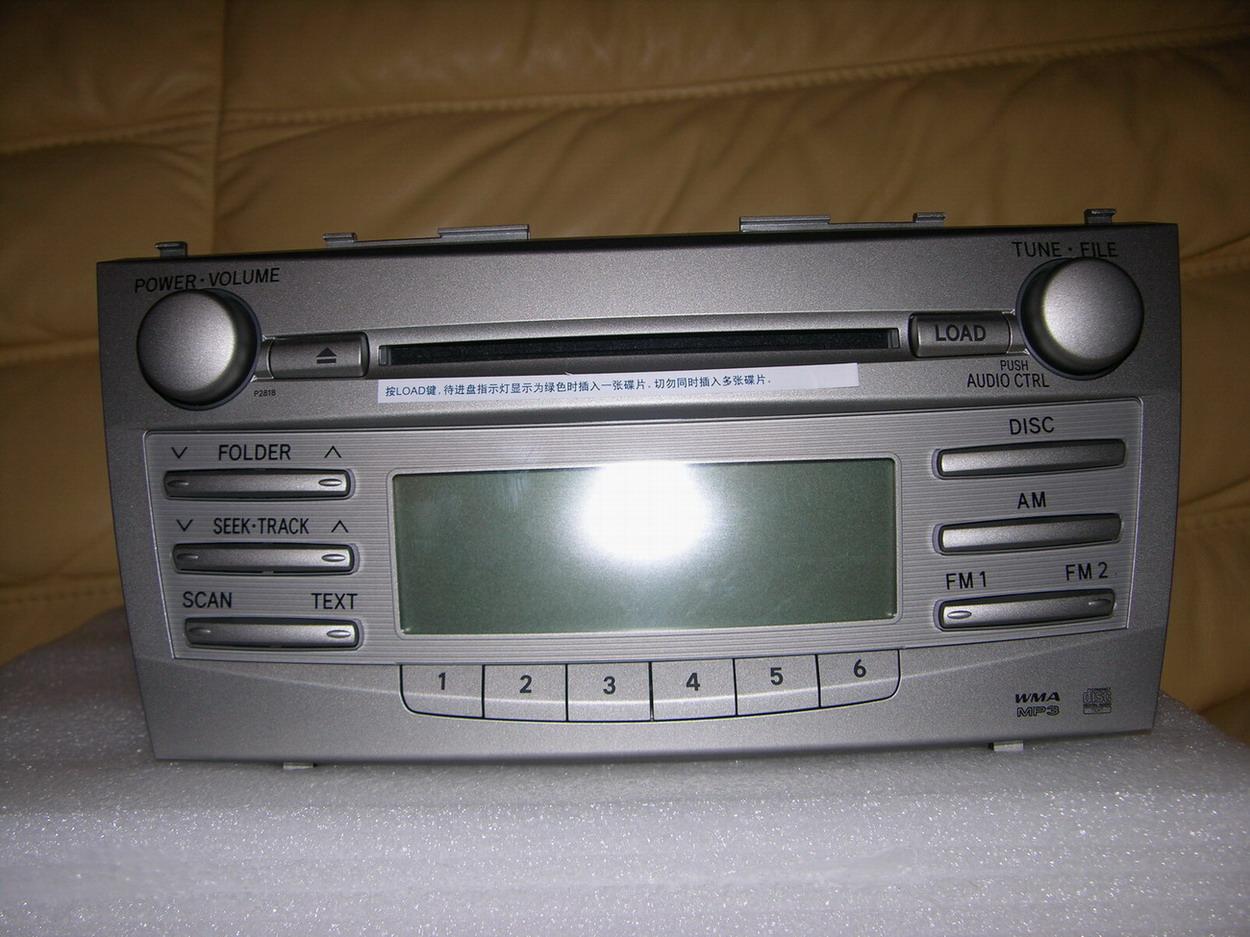 凯美瑞原车6碟cd机,是因换dvd导航换