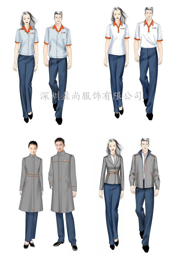 夏季制服款式图手绘
