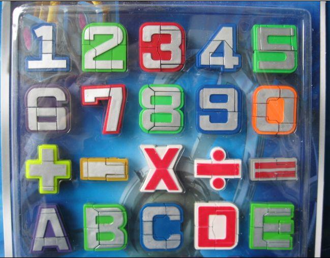 专利/玩具 26个字母变形金刚/带磁性/带磁性贴板 数字-26个字母起源及