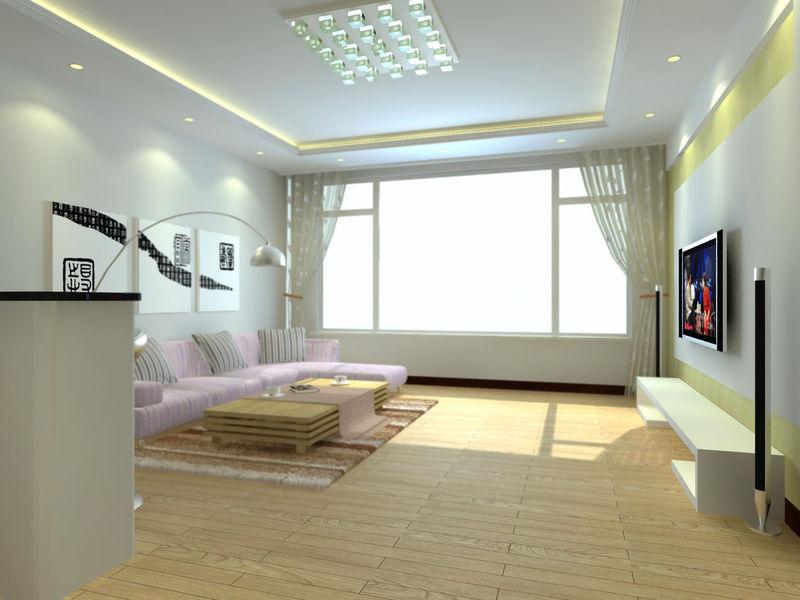 90平方米二手房屋装修 装修招标高清图片