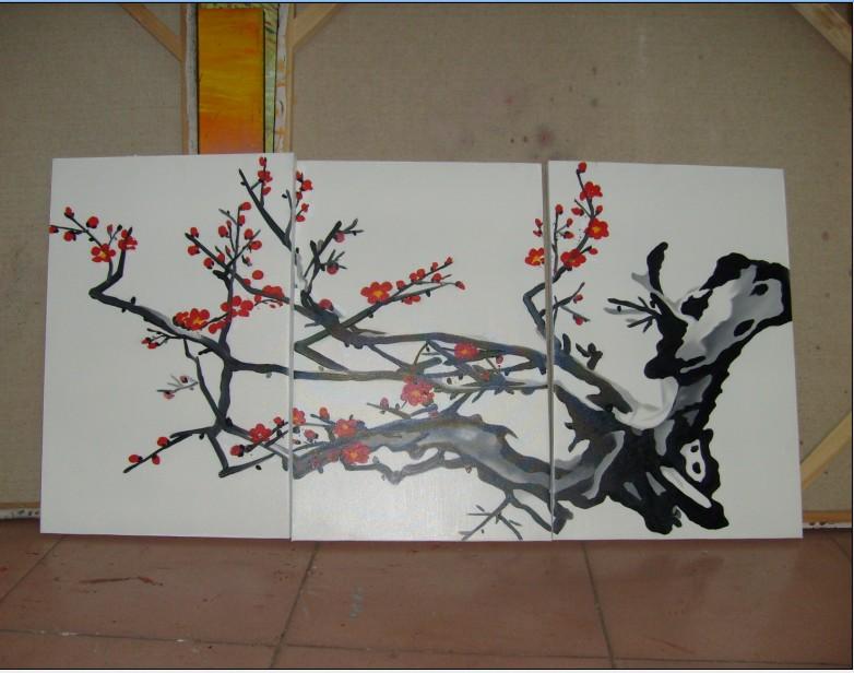 精致彩铅手绘梅花图片
