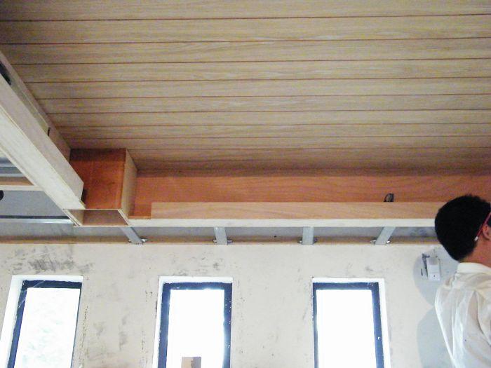 木工制作餐厅天花灯槽