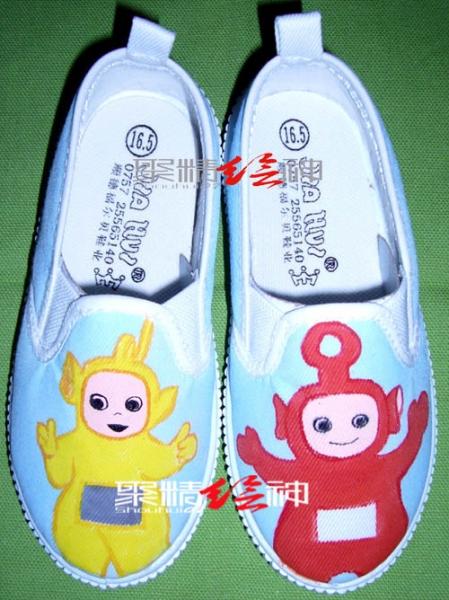 手绘儿童鞋,超可爱哦(内空)