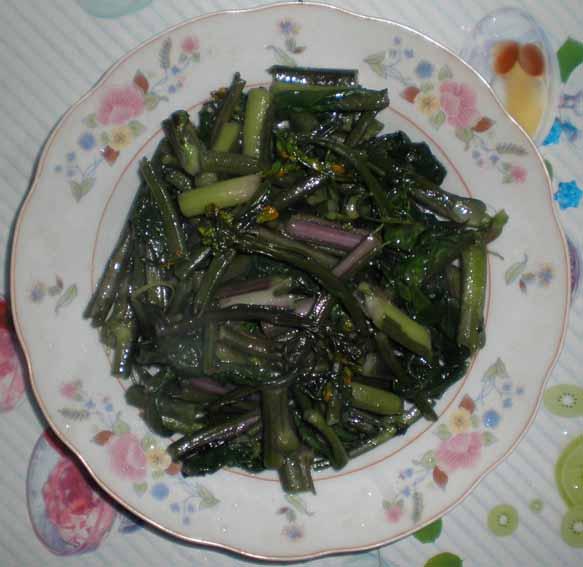 家常菜:西兰花,尖椒莴笋肉沫,清炒红菜苔(内空)