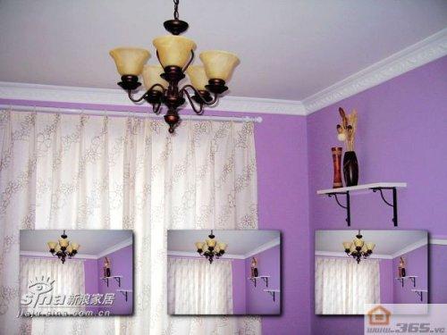 粉紫色欧式装修图片