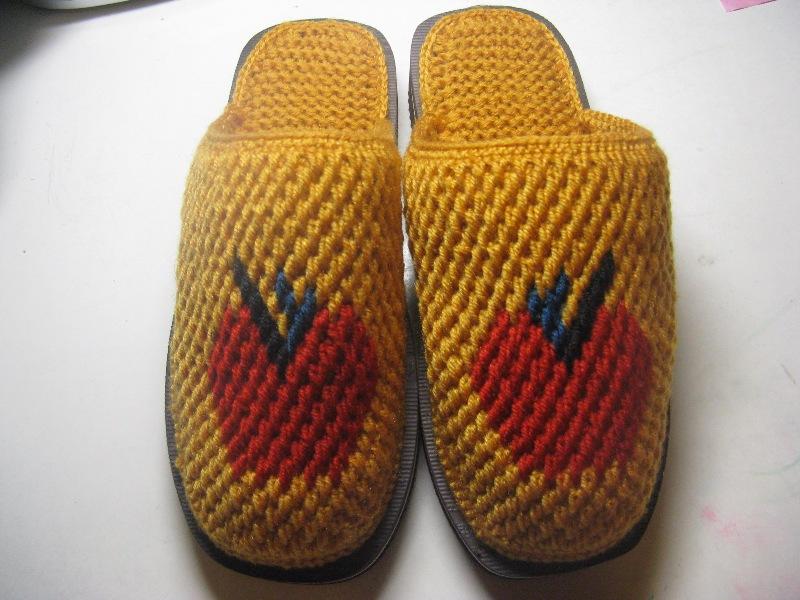 手工拖鞋毛线编织图纸图片分享图片