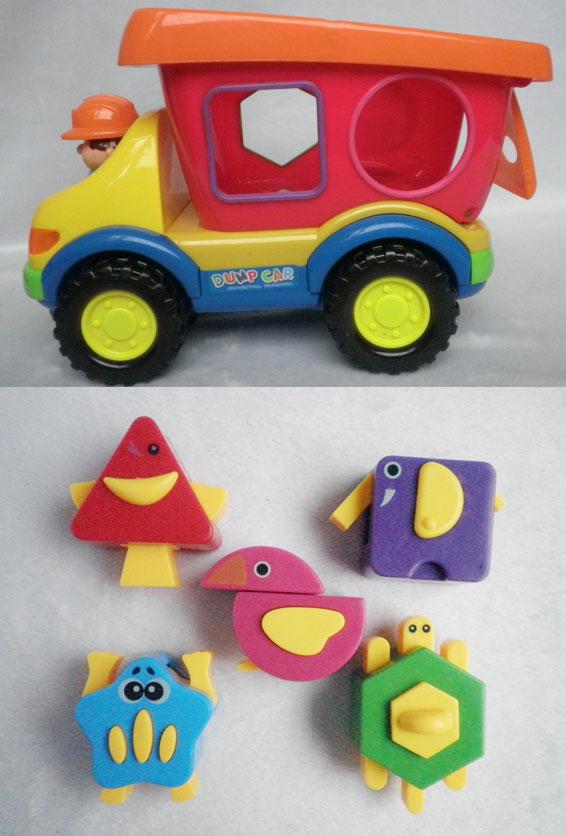 5,不同的立体方块为五角形,圆形,三角形,正方形的立体方块能使孩子