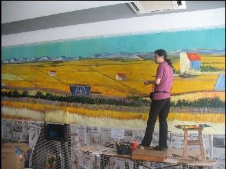 蒋军专业手绘墙画