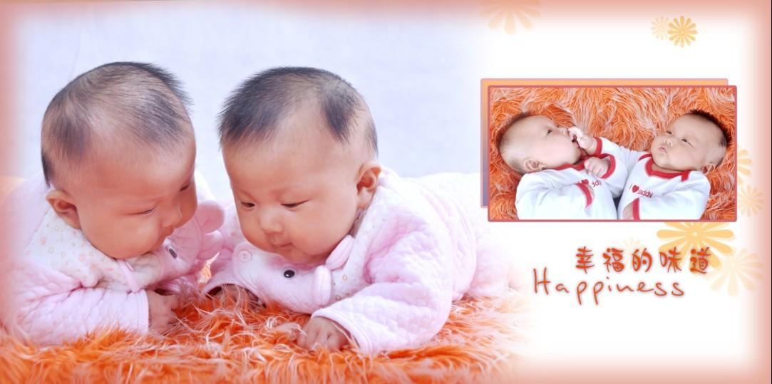 双胞胎宝宝100天照(照片继续更新中)