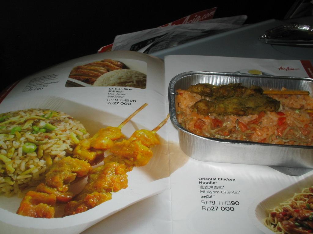 亚航 真正的飞机餐和亚航宣传册~~~~~~~亲