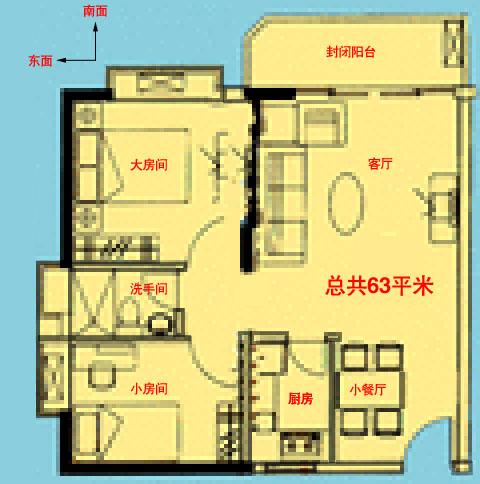 房屋平面结构图