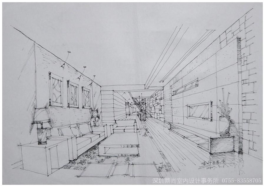 简单室内设计手绘图 入户玄关鞋柜效果图 入户玄关鞋柜效果图