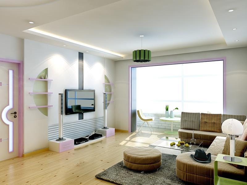 小房间装修白色效果图