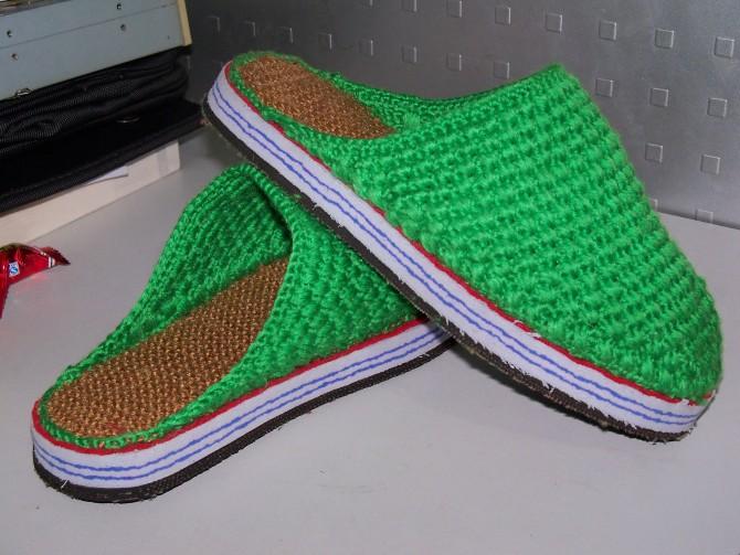 勾毛线拖鞋