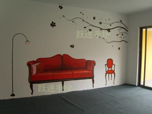 墙绘居家装饰-- 手绘墙画>