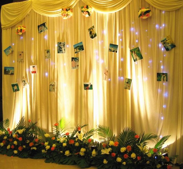 童话般的浪漫烛光婚礼