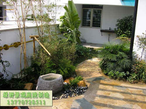各种流水景观,日式小品