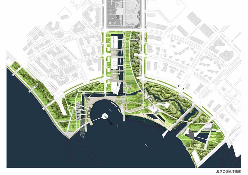 海滨公园总平面图