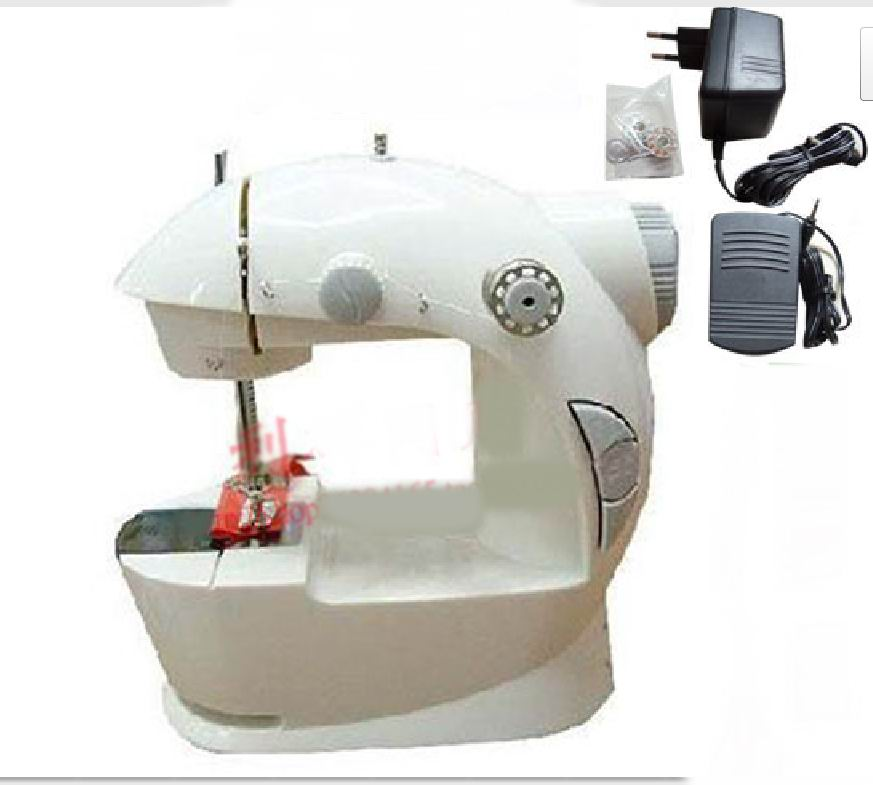 微型缝纫机穿底线图解