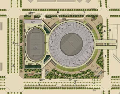 宝安体育场平面图.