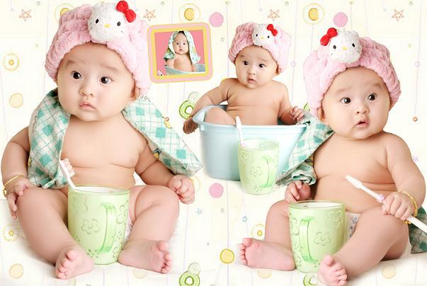 可爱宝贝做胎教美图