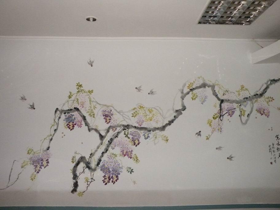 作的墙壁国画手绘