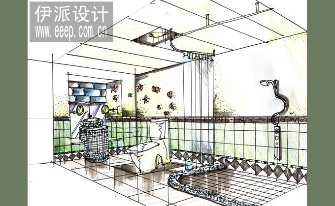 卫生间手绘