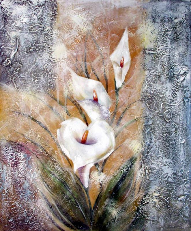 花卉装饰油画 zsh159; 欧式客厅装饰 画 配电箱专用无框 画 手绘 抽象
