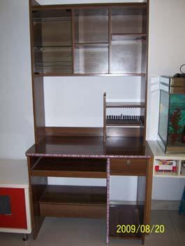 紧急处理全实木电脑桌连体书柜和电视柜