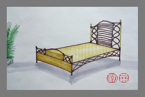勤菜拙作——实木家具手绘图 - 设计师沙龙 - 深圳房地产信息网; 家具
