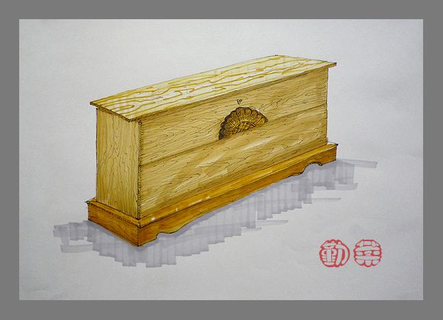> 勤菜拙作——实木家具手绘图
