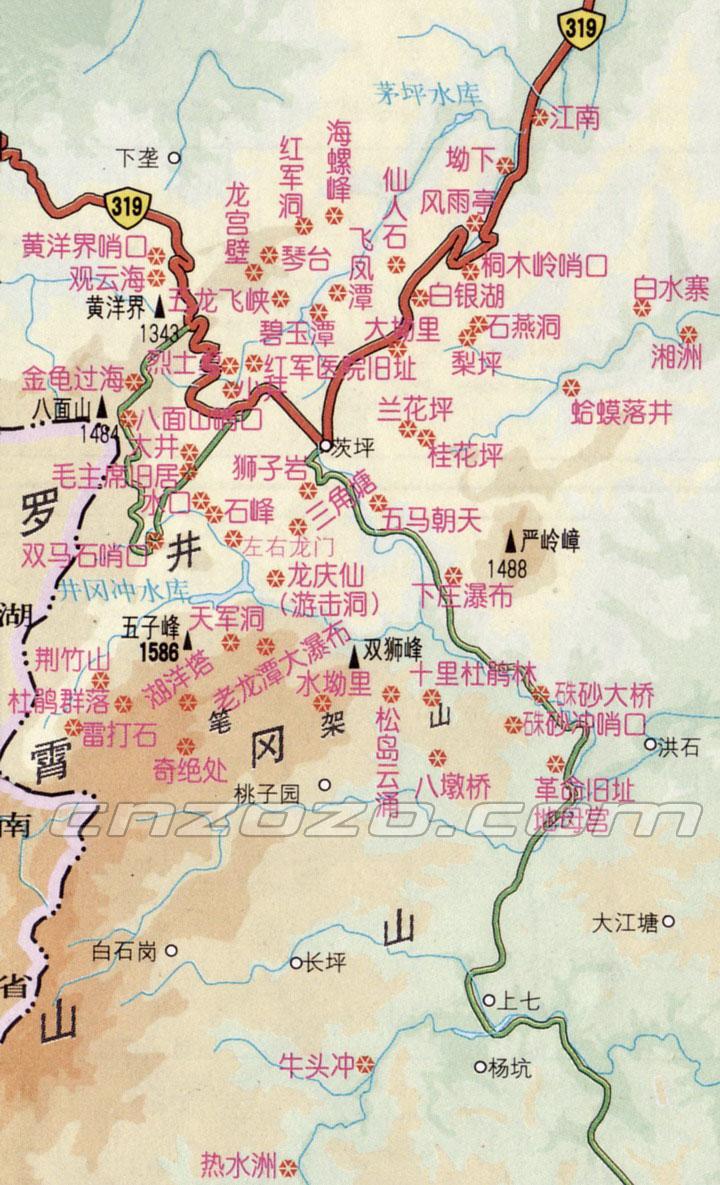 井冈山旅游地图