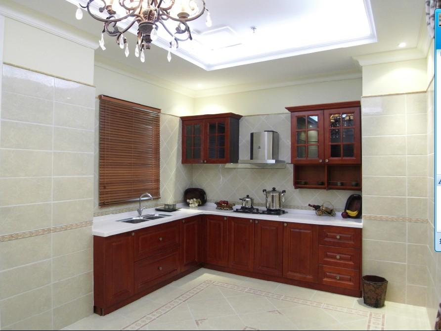 欧式厨房复古砖装修效果图