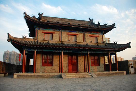 西安城墙上的风景