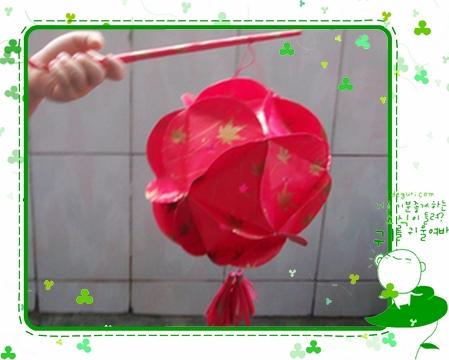 绣球花灯笼制作方法