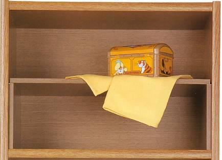 柜子隔断方法一:用两块相同的木板