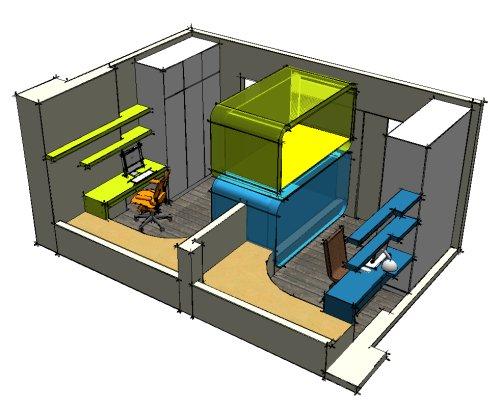 展示儿童房设计的概念图